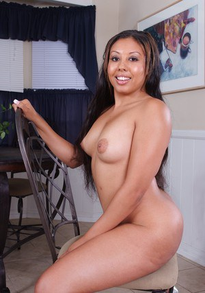 Plump college girl Alexa Cruz stripping nude and spreading nice pussy