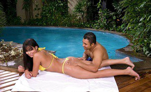 Hardcore ass fucking in outdoor pool cheers cute Daniely Bitencurt up