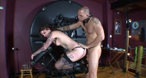 Kinky babes in latex outfits are into hardcore BDSM action