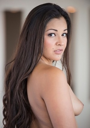 Lusty latina cutie with ample ass Bebe Leflour uncovering her fuckable curves