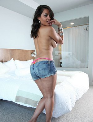 Sassy latina with nice jugs Charley Chase gets her trimmed cunt cocked up