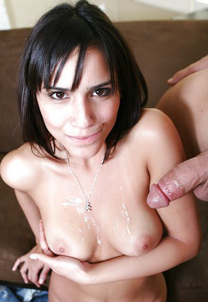 Latina sweetie Camila Bella gets fucked and takes a cumshot on her tits