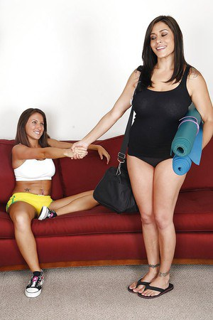 Sassy chick gets involved into lesbian sex with her yoga coach