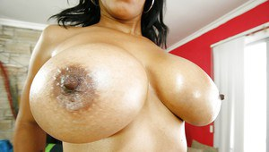 Amateur Latina babe Soleil can destroy your will with her big tits