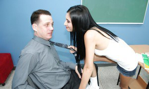 Tristan Kingsley and her handsome teacher playing after classes