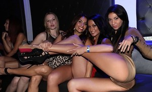 Esmi Lee and her girlfriends are having an crazy orgy at a party