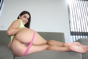 Sexy European chick Valentina Nappi takes off her pretty pink panties