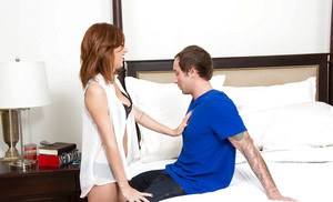 Latina April ONeil is giving a good deep blowjob and getting sperm
