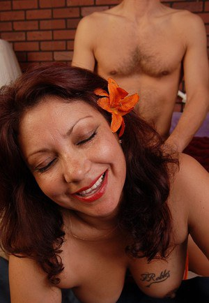 Latina Flor is riding on the dick and getting a nice facial load