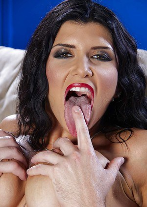 Spicy as fuck Latina Romi Rain is getting filled with his huge dick