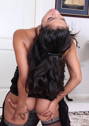 Sultry Latina babe Tommy Boy showing off nice ass under dress