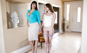 Latina MILF Mercedes Carrera and teen girl Zoey Laine undress each other